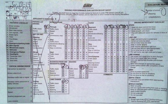 DMV behind-the-wheel test