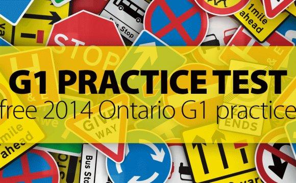 FREE Ontario G1 Practice Test
